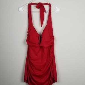 Plus size new with tag red swimsuit 3x 22/24